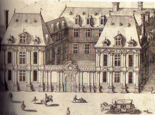 St antoine 21 hôtel de mayenne gravure ancienne