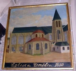 Temple église tableau