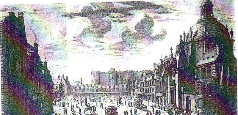 St antoine perspective bastille gravure ancienne