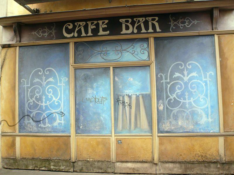 Bretagne devanture café ancien