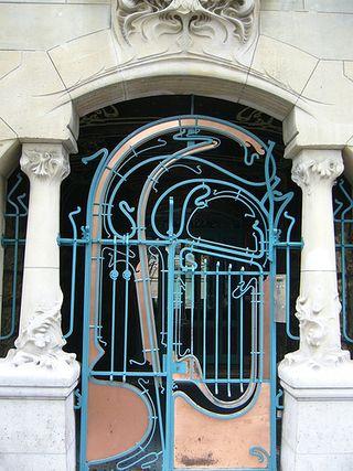 Guimard portail fer forgé castel béranger 14 la fontaine