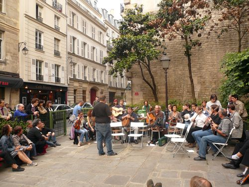 Fête musique 2011 jardin haudriettes
