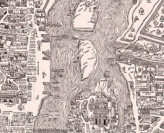 Plan de paris vers 1550 les îles