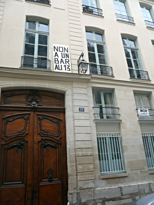 Saintonge 10 façade NON au bar 24 01 14