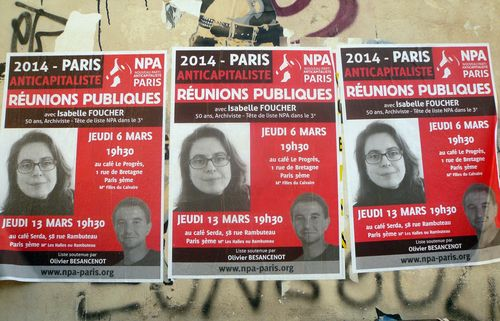 Affiches sauvages npa 05 03 14