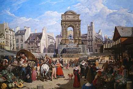 435px-Innocents1822 1822 john james chalon le marché et la fontaine des innocents