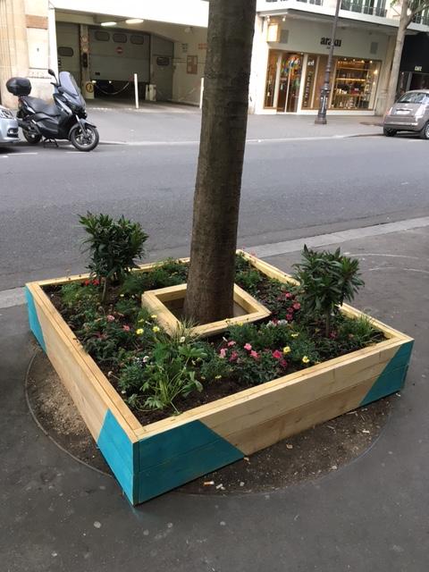 vivre le marais fleurissement chatoyant de pieds d 39 arbres rue de bretagne iiie. Black Bedroom Furniture Sets. Home Design Ideas