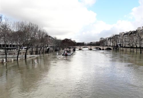 Crue de la Seine pont Marie 26 01 18