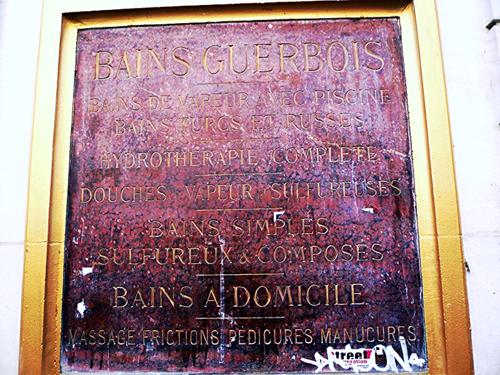 Bourg l'abbé bains douche plaque 20 06 12