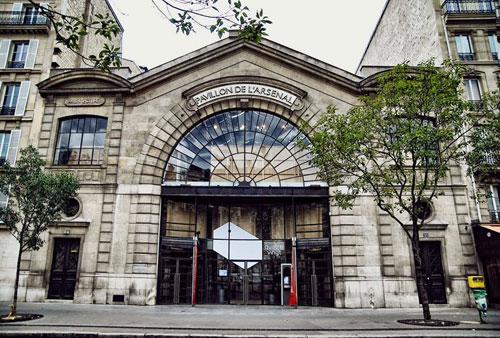 Facade-le-pavillon-de-l-arsenal-paris-hotel-jeanne-d-arc-marais
