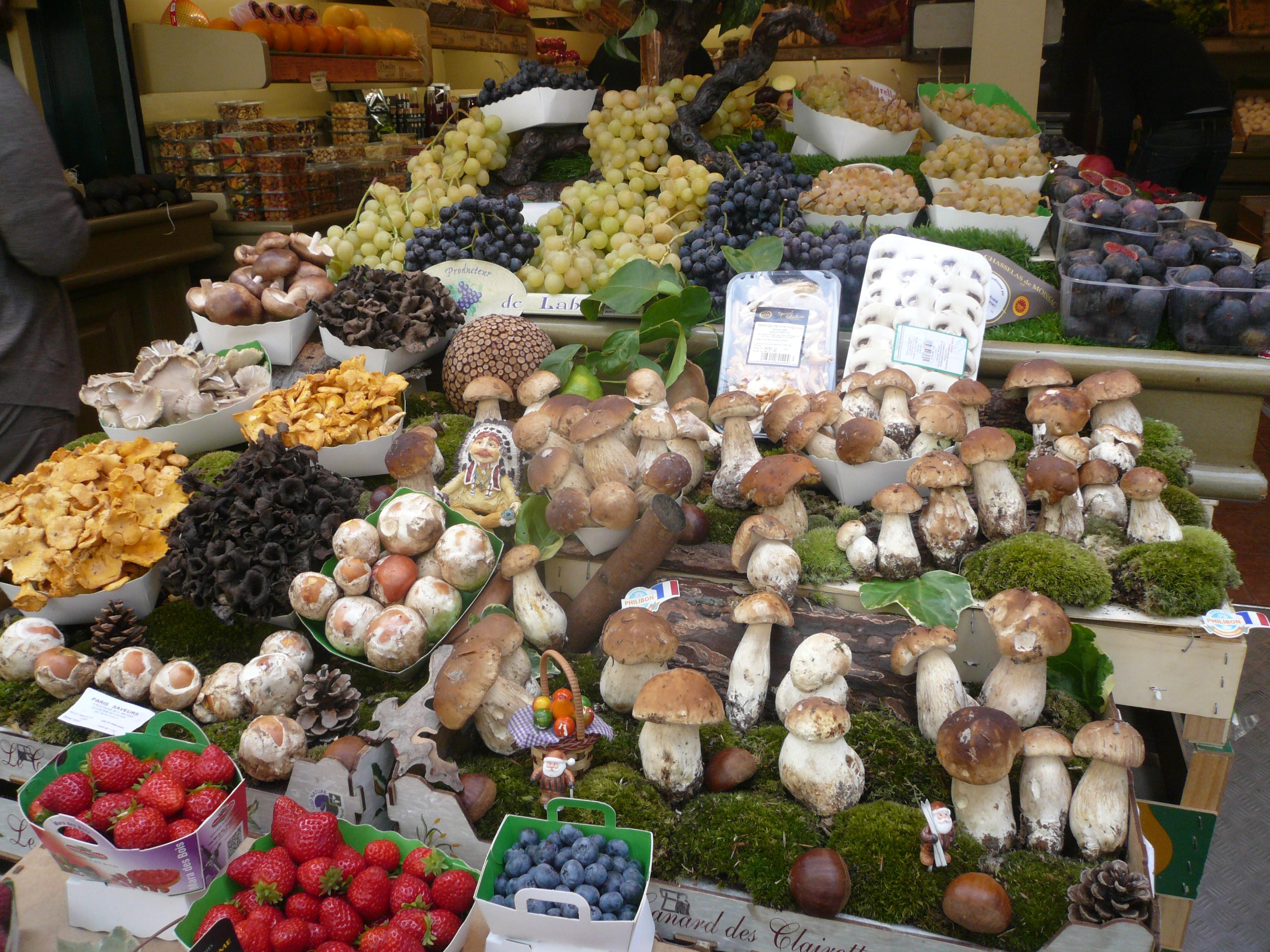 """Vivre le Marais Les champignons du """"Jardin des Délices"""" rue de"""