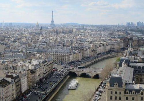 Paris vue générale seine