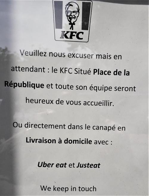 Affichette KFC 18 06 19