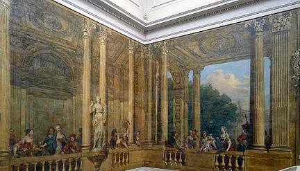 Carnavalet escalier peinture murale brunetti paolo antonio bis