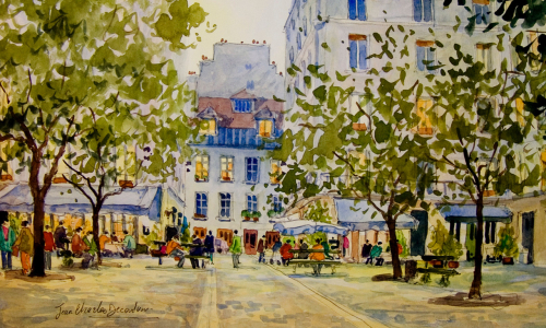 Ste catherine aquarelle decoudun