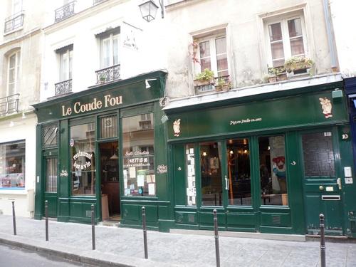 """Restaurant """"Le Coude Fou"""", devanture"""